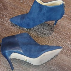EUC C.Wonder Navy Suede Leather Pointed Booties